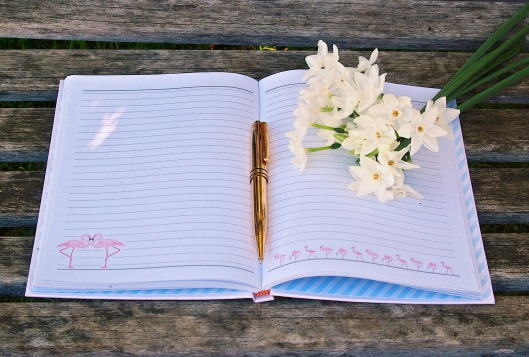 journal-WITH FLOWERS